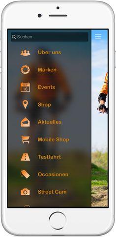 Mobile Marketing - Genau die richtigen Funktionen in der App für Biker Shops, Velo Verkauf und Fahrrad Handel & Serivce http://nextvisionapps.com/de/online-demo-velo