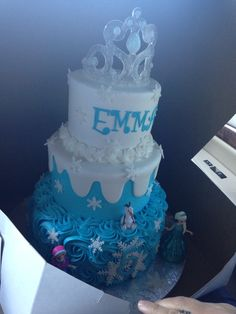 Frozen birthday cake for our Emma