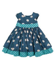 Frugi organic cotton baby little twirly bow dress