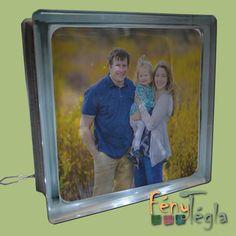 Saját fotóval készült világító üvegtégla #család #ajándékötlet #fényképesajándék #egyedilámpa Baseball Cards