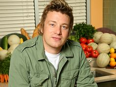 Known as the Naked Chef because of all his natural products he uses in his cooking, Jamie Oliver is a lovely Chef! His accent will also melt you!