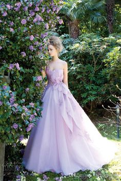 Beautiful lavender wedding dress 18 Colorful Wedding Dresses for the Non-Traditional Bride via Brit + Co. Wedding Robe, White Wedding Gowns, Colored Wedding Dresses, Purple Wedding Gown, Lavender Wedding Dress, Lace Wedding, Wedding Frocks, Wedding Unique, Nontraditional Wedding