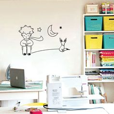 He Little Prince Fox Moon Star Decor Mural Art Wall Sticker Decal Children Kid //ebay shop:http://stores.ebay.com/leyintzonline //website:http://ws.metoshop.com