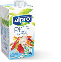 Alpro rice cuisine (cream) | cooks brilliantly so can make 'creamy' pasta sauces and combined 50:50 with rice milk, it makes excellent thick custard | www.alpro.com/uk/