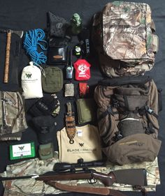 #gearedup ready to have some fun in the #wild this weekend. We love our work!   #prostaff #bladearmour #hunting #venator #cacciaselettore #xbolt #swarosky #z4i #blaser #deerhunter #tomahawk #parang #foxknives #scouting #bushcrafting #gear #tactical