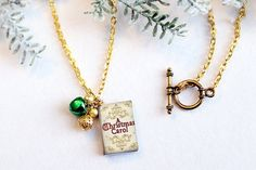 Christmas Book  Charm A Christmas Carol Favorite by SUSANsBAUBLES, $19.00