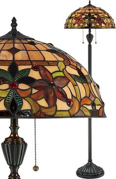 Quoizel Kami Art Nouveau Tiffany Floor Lamp Quoizel Kami Art Nouveau Tiffany Collection - Call Brand Lighting Sales to ask for your best price! Art Nouveau, Dramatic Effect, Tiffany Lamps, Agate Stone, Jewel Tones, Floor Lamp, Craftsman, Stained Glass, Table Lamp