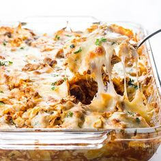 This easy lazy cabbage roll casserole recipe without rice is quick to make using common ingredients. Using cauliflower rice makes it healthy, low carb, and delicious. It's the best cabbage roll casserole ever!