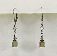 Square Crystal Drop Earrings - Jewelry - Beth Devine Designs