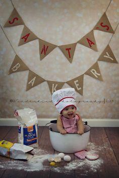 Santa's bakery ♥ Absolutely adorable Happy Holidays, Merry Christmas, photos… – Christmas DIY Holiday Cards
