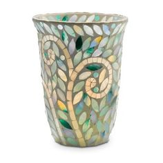 Vine Mosaic Hand-applied glass tiles radiate the luster of an exotic turquoise sea. Add a tealight tree or pillar candle, sold separately, to bring the hurricane to dazzling life. Scented Candles, Pillar Candles, Website Sign Up, Turquoise, Host A Party, My Living Room, Decoration, Wedding Centerpieces, Free Gifts