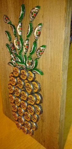 Pineapple Beer Cap Art #beerart