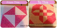 disappearing hourglass 2 on Joey's Quilting Co.