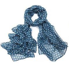 ladies scarf Grey Polka Dot design scarves shawls wrap neck soft fashion