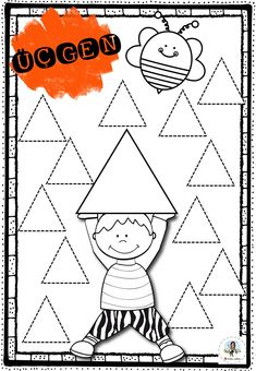 Kids Math Worksheets, Preschool Learning Activities, Math For Kids, Color Shapes, Teaching, Crafts, Beautiful, Math Activities, Geometric Fashion