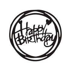 Scrapbook Paper Crafts, Diy Scrapbook, Scrapbook Albums, Stencil Templates, Stencil Diy, Stencils, Birthday Words, Christmas Wine Bottles, Happy Birthday Cake Topper