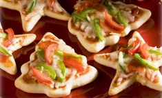 Christmas Tree Mini Pizzas, think this may a new tradition we start this year for kids Christmas dinner :)