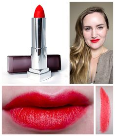 Maybelline Craving Coral Creamy Matte Lipstick swatches and photos