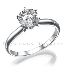 FLAWLESS 2.00 CT G VS2 ROUND CUT DIAMOND 18 K WHITE GOLD SOLITAIRE RING #DiamondsRoyalty #Solitaire