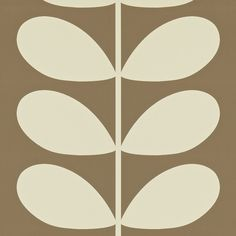 Orla Kiely: Orla Kiely Giant Stem print wallpaper. Hanging instructions on packaging.     Repeat: 16cm    Width: 52cm  Length: 10.05m    Batch #AC    **Please note that wallpaper is non refundable once opened, or hung on the wall.