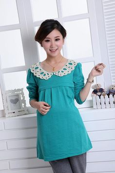 814e004a39 1pcs spring autumn maternity mother long sleeve nursing wear multicolor  choice