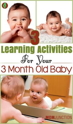 3 Learning Activities For 3 Month Old Baby Mama Baby, Mom And Baby, Infant Activities, Learning Activities, 3 Month Old Activities Baby, Kids Learning, Baby Monat Für Monat, Baby Lernen, 3 Month Old Baby