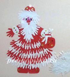 Hands of Santa Claus. Winter Crafts For Kids, Christmas Activities, Christmas Crafts For Kids, Christmas Projects, Kids Christmas, Holiday Crafts, Christmas Classroom Door, Christmas Door Decorations, Christmas Ornaments