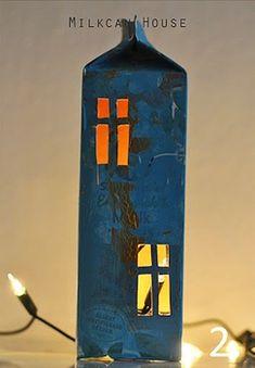 The Crafty Crow children's craft collective: A milk carton lantern house