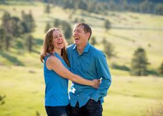 NCAR Engagement Session Boulder Couple Cracking Up Laughing
