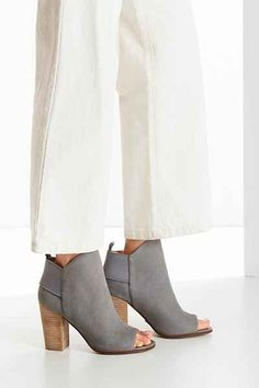 grey heeled ankle booties