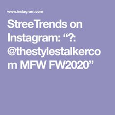 "StreeTrends on Instagram: ""📸: @thestylestalkercom MFW FW2020"" Spring, Instagram, Fashion, Moda, Fasion, Trendy Fashion, La Mode"
