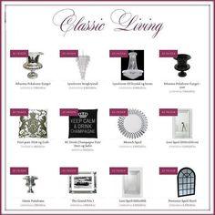 Her ser dere en liten del av vårt store utvalg innen interiør.  Mer informasjon finner dere på http://ift.tt/2g96OsB  #classicliving #interiør #speil #vase #lysekrone #potter