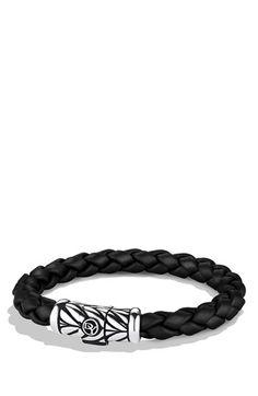 Men's David Yurman 'Chevron' Bracelet - Black