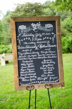 Rustic New England Wedding Wedding Trivia, Diy Wedding, Wedding Events, Weddings, Wedding Ideas, Wedding Program Sign, Wedding Signage, Rustic Wedding Photography, Food Photography