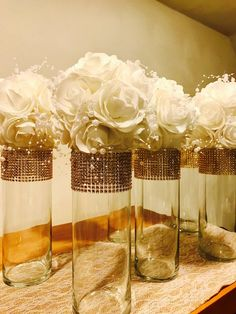 6 Beautiful flower kissing balls in white, delicate pearls, pomander flower balls with ribbon hangers pomander flowers wedding decorations Anniversary Centerpieces, Gold Wedding Centerpieces, Wedding Flower Decorations, 50th Wedding Anniversary, Candle Centerpieces, Wedding Flowers, Mirror Centerpiece, Quinceanera Decorations, Kissing Ball