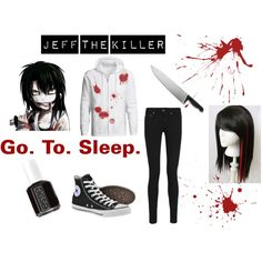 """Jeff the Killer Cosplay"" by janellopezbvb on Polyvore there's a lot of Jeff the killer cosplay's.... I love it!"