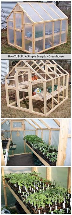 tutorial to build a simple everyday greenhouse on your own with simpler stuff that you might get for a few dollars.A tutorial to build a simple everyday greenhouse on your own with simpler stuff that you might get for a few dollars. Greenhouse Plans, Greenhouse Gardening, Small Greenhouse, Greenhouse Wedding, Backyard Greenhouse, Portable Greenhouse, Backyard Landscaping, Backyard Ideas, Outdoor Projects