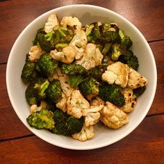 Balsamic Roasted Broccoli and Cauliflower. An easy side dish for any weeknight or holiday dinner.