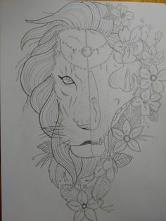Lion sketch pencil °~° 🦁