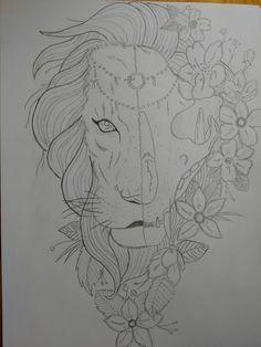 Lion sketch pencil °~° 🦁