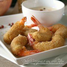 Gamberoni fritti al sesamo con salsa alla paprika piccante