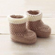 Bernat Softee Baby Cuffed Boots
