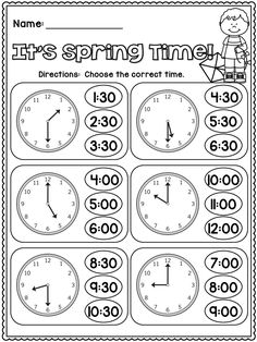 22 Telling Time Worksheets Grade elapsed time worksheets with clocks Telling Time Activities, Teaching Time, Teaching Math, Math Activities, Telling Time Worksheet, Telling Time Games, Teaching Money, Time Worksheets Grade 3, Kindergarten Worksheets