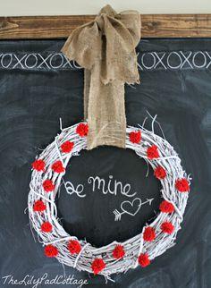 Valentines Day Chalkboard   The Lilypad Cottage