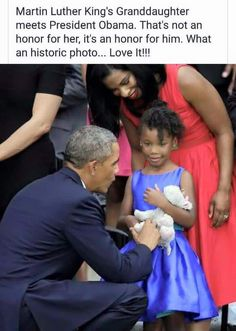 Martin Luther King's Granddaughter meets President Obama