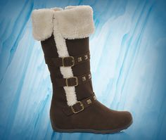 Girls' Baby Girl Brown Studded Fur Boots at Shoe Carnival.