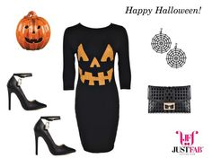 """Happy Halloween!"" by madforfashion78 ❤ liked on Polyvore featuring JustFabulous"