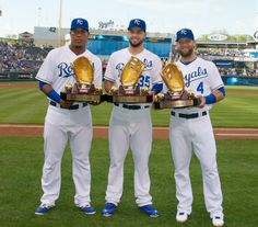 KC Royals 2013 Golden Glove winners: Perez, Hosmer, Gordon