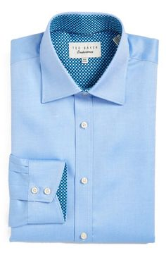 Ted Baker London 'Kytrim' Trim Fit Micro Stripe Dress Shirt available at #Nordstrom