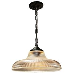 The Mullan London 30cm Holophane Railway Pendant Light is manufactured in Ireland, This quality solid brass and prismatic holophane glass pendant is reminiscent of the traditional railroad railway pendants.